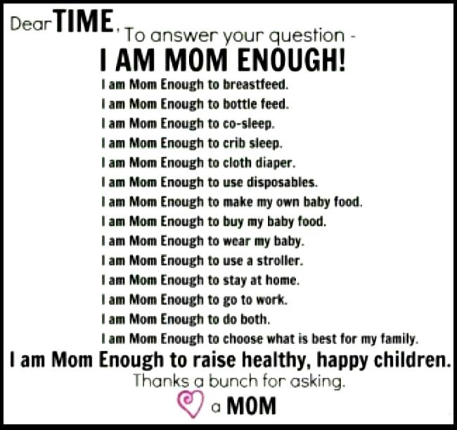 Being Mom Enough Its Not About The Why Its About The Win